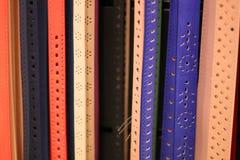 Courroies colorées Photographie stock