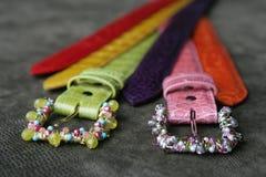 Courroies handcrafted par coutume Image libre de droits