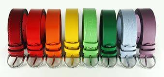 Courroies multicolores Photo libre de droits