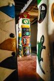 Cours拉米多宫殿, Ngaoundere,喀麦隆内部  免版税库存照片