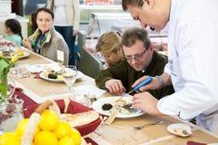 Cours de cuisine Photographie stock libre de droits