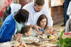 Cours de cuisine Photo libre de droits