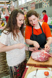 Cours de cuisine Photo stock