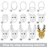Cours de dessin comment dessiner un champignon illustration de vecteur illustration du enfant - Comment dessiner un cerf ...