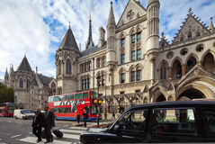 Cours de Justice royales. Brin, Londres, R-U Photos stock