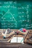 Cours de trigonométrie à l'école Photos libres de droits