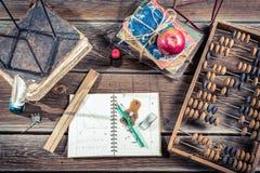 Cours de trigonométrie à l'école Images libres de droits