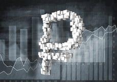 Cours des devises de rouble, rendu 3d Image stock