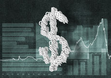 Cours des devises du dollar Photo libre de droits