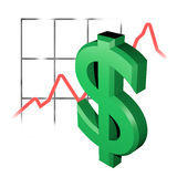 Cours du dollar Image stock