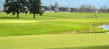 Cours jouant au golf vert de golf BC photographie stock