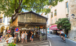 Cours Massena provencal market in the old town, Antibes Royalty Free Stock Photos