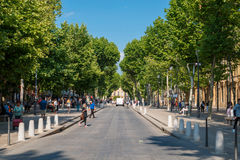 Cours Mirabeau стоковые фото