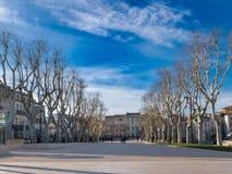 Cours Mirabeau no centro de Narbonne Fotografia de Stock Royalty Free