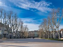 Cours Mirabeau in the center of Narbonne royalty free stock photography