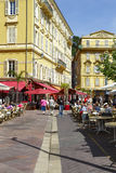 Cours Saleya buildings and restaurants Stock Photo