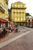 Cours Saleya buildings and restaurants, Nice Royalty Free Stock Photography
