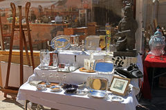 Cours Saleya, famous of antique market in Nice, France. Royalty Free Stock Image