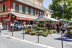 Cours Saleya in Nice, France Royalty Free Stock Images