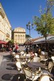 Cours Saleya, Nice, Frankrijk royalty-vrije stock foto