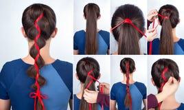 Cours simple de coiffure Photos libres de droits
