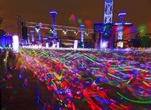 Course électrique lumineuse Photo libre de droits