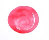 Course abstraite rouge de cercle sur le fond blanc Photo libre de droits