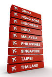 Course au concept de l'Asie illustration libre de droits