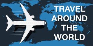 Course autour du monde  illustration stock