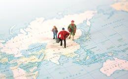 Course autour du monde Photographie stock