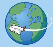Course autour du monde illustration libre de droits