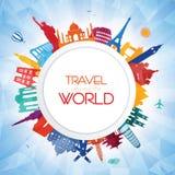 Course autour du monde Images libres de droits
