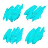 course bleue de brosse d'isolement sur le fond blanc illustration de vecteur
