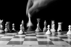 Course of the chess queen Stock Photography