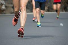 Course courante de marathon Photos libres de droits