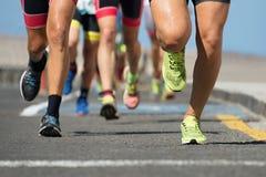 Course courante de marathon Images libres de droits