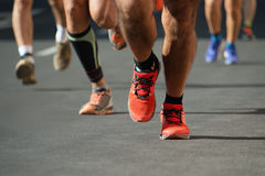 Course courante de marathon Image stock