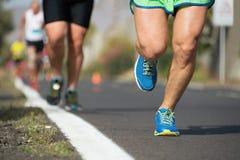 Course courante de marathon Photographie stock libre de droits