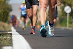 Course courante de marathon Photographie stock