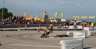 Course d'amateur de Supermotard Photographie stock libre de droits