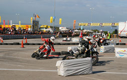 Course d'amateur de Supermotard Photo libre de droits