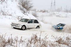 Course d'hiver Photos stock