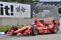 Course d'IndyCar sur Belle Isle à Detroit Photo stock