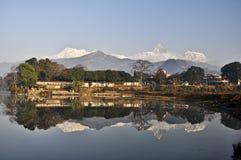 Course dans le pokhara Photo libre de droits