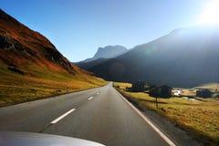 Course dans les Alpes Photographie stock