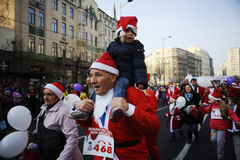 Course de Belgrade Santa Photo stock