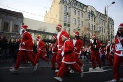 Course de Belgrade Santa Photos libres de droits