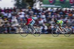 Course de bicyclette Photos stock