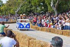 Course de caisse à savon de Lisbonne Red Bull Images stock