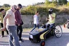 Course de caisse à savon organisée dans le village de Tornac Photo stock